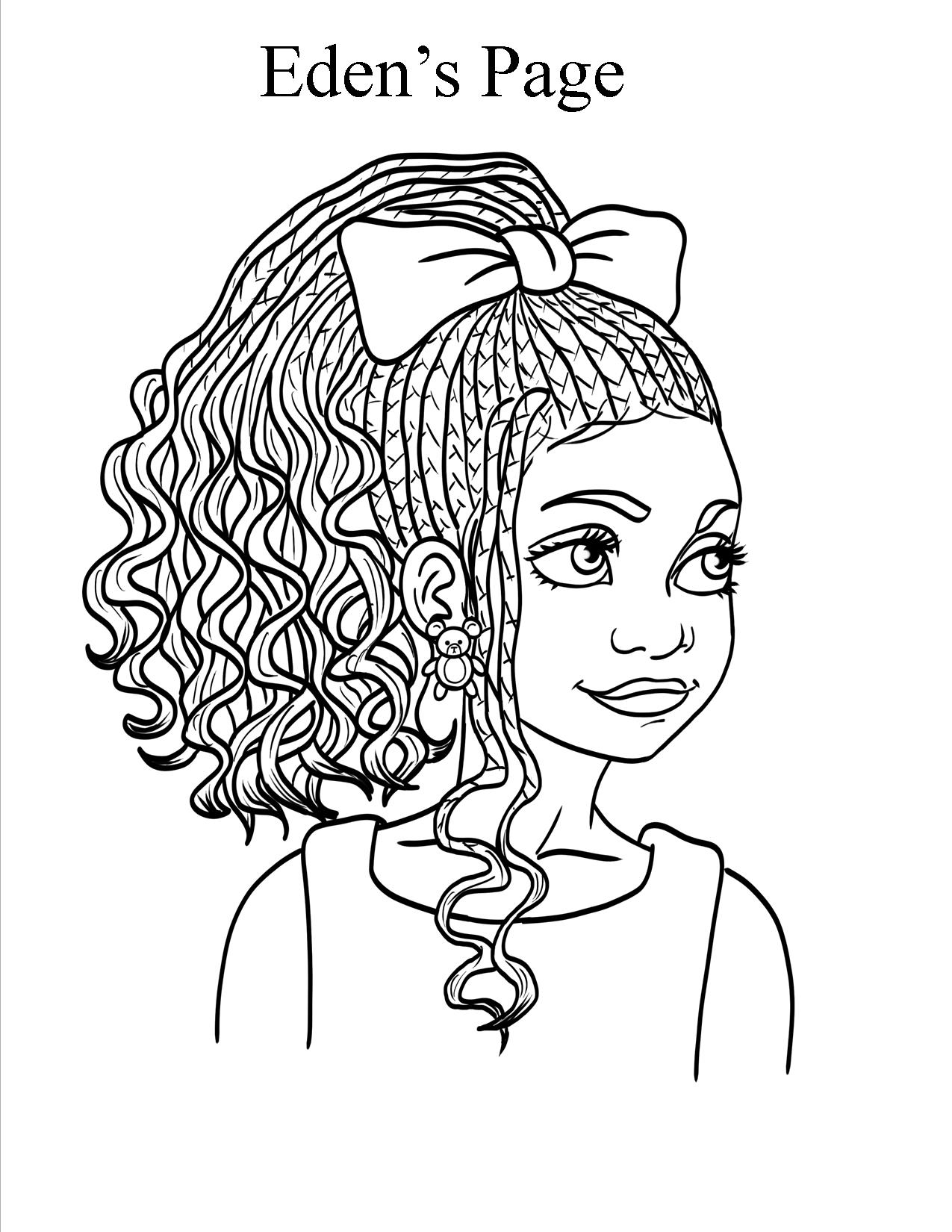 Eden 39 s page Coloring book hair