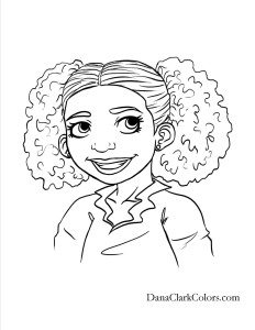 African American Children's Coloring Pages Free Coloring Page 9